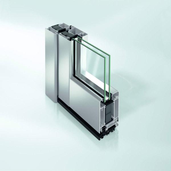 Дверь Schüco ADS 75 SL.SI в алюминиевом профиле