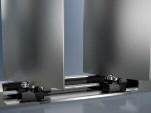 Широкие ламели Schüco ALB с подвижным закреплением и скрытым приводным управлением