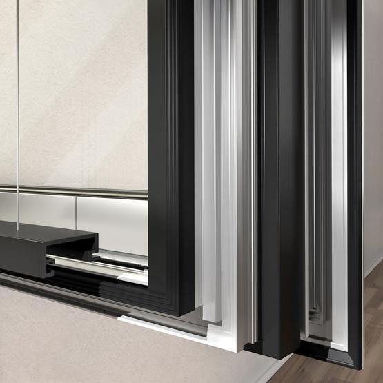 Алюминиевые спаренные окна AWS 120 CC.SI со встроенной солнцезащитой