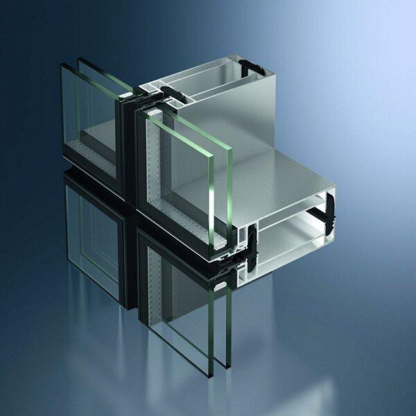Schüco UCC 65 SG – элементный фасад с имитацией структурного остекления