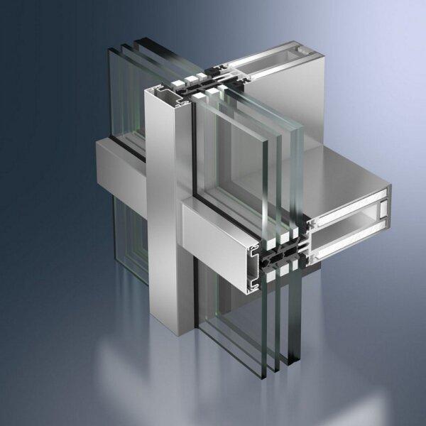 Алюминиевые огнестойкие фасадные системы FW 50 FR 60