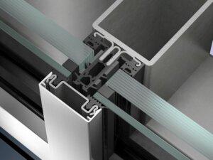 Накладные огнестойкие фасадные системы на сталь Schüco FW 50+ BF AOS