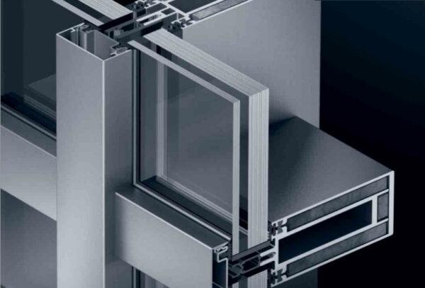 Накладные огнестойкие фасадные системы на сталь Schüco FW 60+ BF AOS