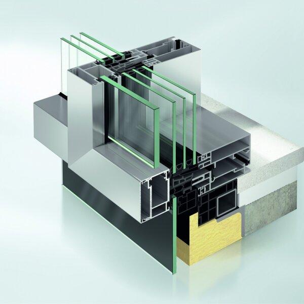 Фасадная система Schueco FWS 60 CV (Concealed Vent)