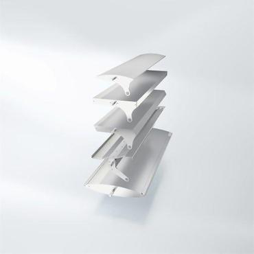 Подвижные широкие ламели Schüco ALB с линейным приводом