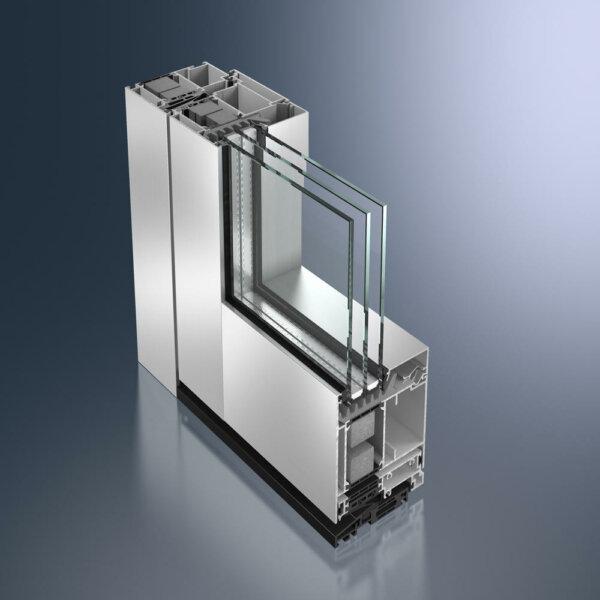 Дверь Schüco ADS 90 PL.SI в алюминиевом профиле